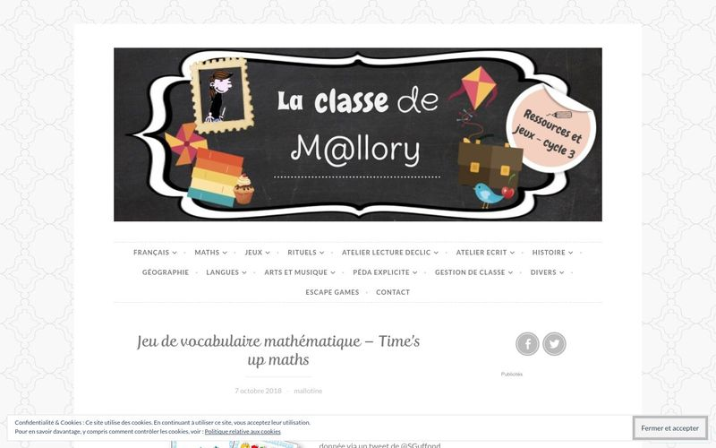 La classe de Mallory : Time's up maths